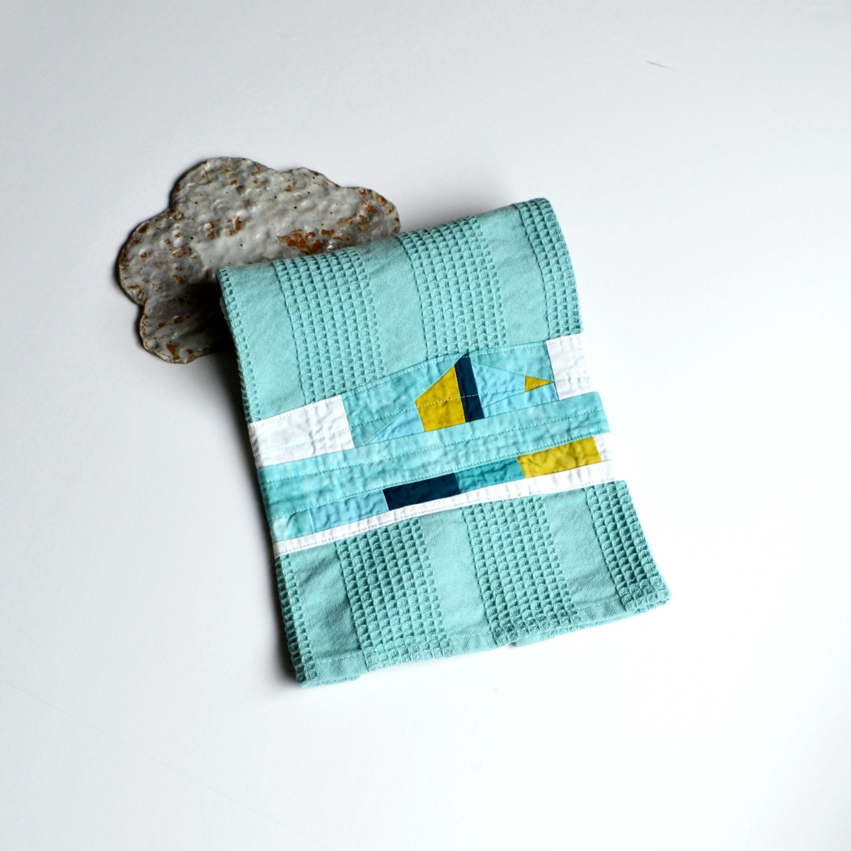 Blue Kitchen Towel Aqua Hand Towel Modern Kitchen Towel