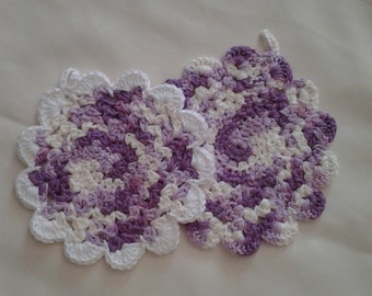 100% cotton crochet washcloths/dishcloths.