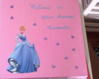Cinderella canvas art