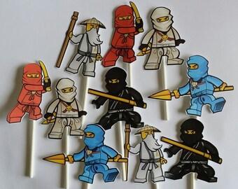 10 Ninjas cupcake toppers