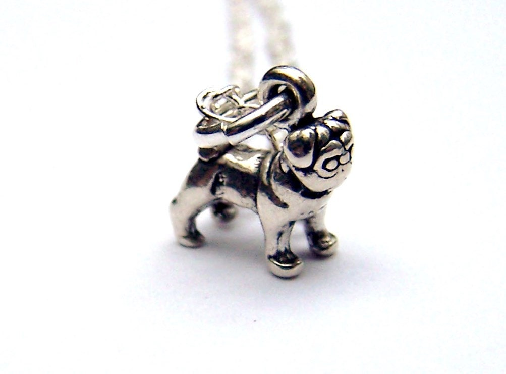 bulldog necklace sterling silver jewelry by