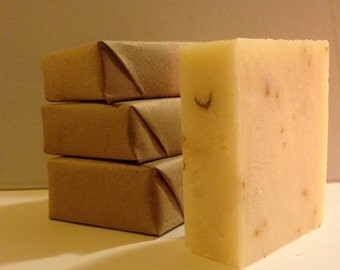 Organic Lavender Soap. Simple Luxury: Lavender with Flower Buds, Ultra Moisturizing, Organic Shea Butter Soap