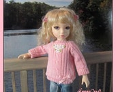 A Pretty Pink Sweater for your Iplehouse BID girls . .and other Similar Sized Dolls ..