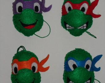 Felt Teenage Mutant Ninja Turtles Ornaments