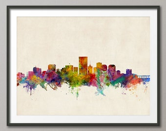 Richmond Skyline, Richmond Virginia Cityscape Art Print (251)