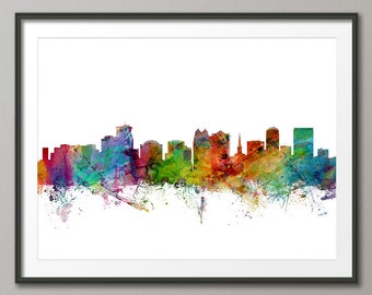 Orlando Skyline, Orlando Florida Cityscape Art Print (1257)