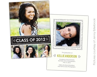 INSTANT DOWNLOAD - Graduation announcement - Photoshop Templates - E397