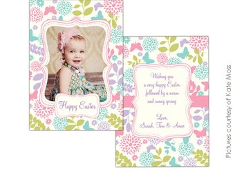 INSTANT DOWNLOAD - Easter Photocard - PSDTemplate - E332