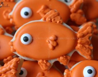 Goldfish Hand Decorated Sugar Cookie Favor, Kids Cookies, Birthday Cookies, Animal Cookies, Fish Cookies