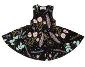 Floral Twirl Dress- Toddler Dress- Organic Cotton- Printed Dress -Floral Kids Dress -Girl Dress- Baby Dress- Easter Dress- Thief&Bandit®