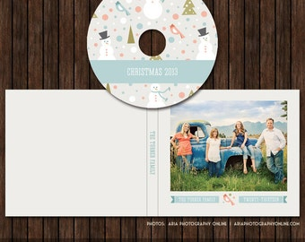 Christmas / Holiday CD/DVD Label and Single Cover Templates - D24