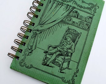 Vintage 1910 Green OOAK Repurposed Journal