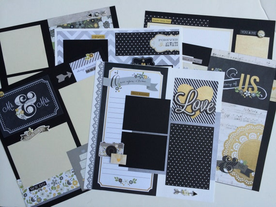 SALE Wedding Scrapbook Pages 12x12 Kit Or Premade Pre Cut With