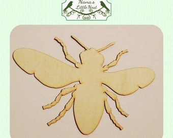 Bumble Bee -  (Large ) Wood Cut Out -  Laser Cut