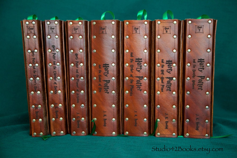 Harry Potter Book Leather Cover : All harry potter books with leather covers