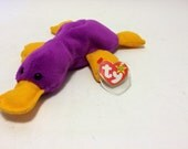 Vitnage Ty Beanie Baby PATTI PLATYPUS Original Nine 1993 93 with Swing Tag and Tush Tag Great Condtion