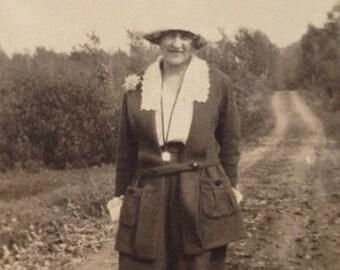 Original Antique Photograph Elmore & the Winding Road