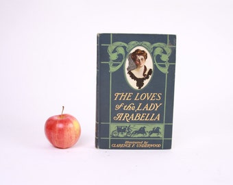 Book Kindle Cover or Nook Cover- Ereader Case made from a Book- The Loves of Lady Arabella