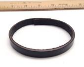 "12pc - Skinny Black Leather Bracelet Blanks - 10"" long - 9mm wide"