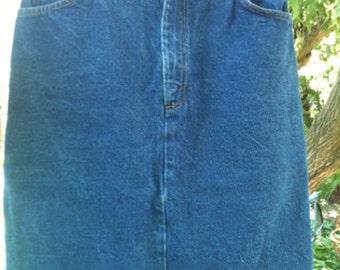 80s Levis Jean Skirt-