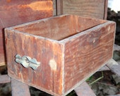 Cubby Box with Charming Drawer Pull Rustic Wooden Cubby Vintage Cubby Industrial Decor Steampunk Decor