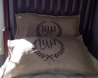 Burlap  Bag Standard pillow case