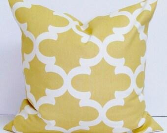 GOLDEN YELLOW PILLOW.26x26 inch.Pillow.Pillow Cover.Decorative Pillows.Housewares.Tiles.Pale Yellow.Cushion Cover.Pillow.Cm.Saffron Pillow