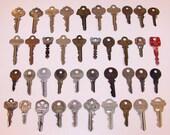 Vintage Lot Of 60 Assorted Old Keys