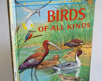 Vintage Children's Book, Birds of All Kinds, Golden Press