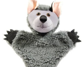 Animal hand puppet for children - wulfy