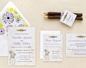 Rustic Mason Jar - Wildflowers - Printed Set - Printables - DIY Print at Home