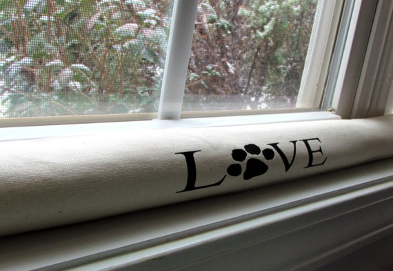 Items Similar To Personalized Door Draft Stopper Dog Paw