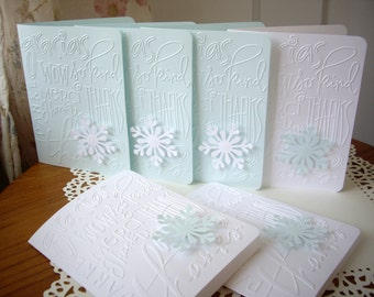 snowflake cards, thank you cards, snowflake thank you cards,winter thank you cards,christmas thank you cards,winter cards,12 cards