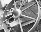 Iron wheelbarrow wheel
