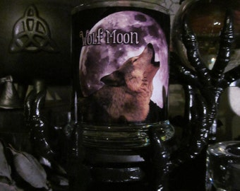 January FULL MOON: Wolf Moon~ Full Moon, Moons, Moon Magick, Spells, Spellwork, Luna, Winter, Wolf, Monthly moon, Witchery, Altar, Ritual