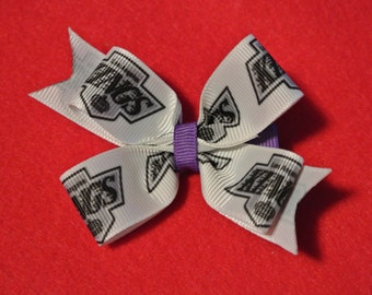 Los Angeles Kings Hair Bow - 2014 Stanley Cup Champions!