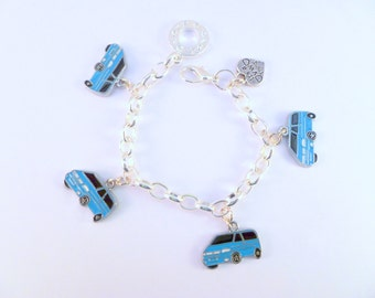 VW T4 Camper Van Charm Bracelet