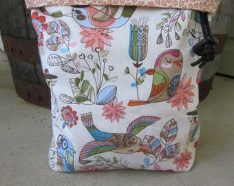 Pretty Bird Knitting Project Bag - Phat Fiber