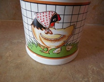 Chicks milk crock Jug, utensil holder, or your goodies. use coupon code GOTTOGO for 30% off