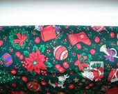 Vintage Swedish Christmas Decoration Table Runner with Christmas Ornaments - Table Linens - Swedish Textiles
