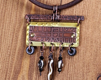 Ethnic Etched Necklace
