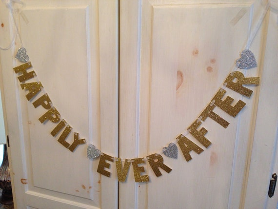 Happily Ever After Banner -- Wedding Decoration / Engagement Party / Photo Prop