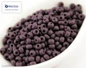 20g Seed beads 6/0 Opaque Dark Purple Seed Bead Rocailles NR 209 Opaque seed beads Purple seed beads