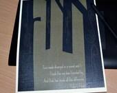 Robert Frost Print - Road Less Traveled Quote Print - Art Print