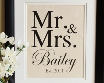 Cotton Anniversary Gift- MR & MRS, The perfect gift for 2nd year Anniversaries