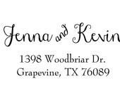 calligraphy handwriting script custom address stamp,personalized SELF INKING Return address stamp,wedding stamp,S03
