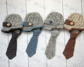 Baby boy hat, newborn boy hat, baby newsboy hat, newsboy outift, baby boy clothes, coming home outfit, newborn photo prop, necktie