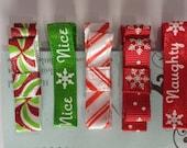 Christmas Hair Clip set - red - green - sparkle - snowflake -alligator clips- toddler - infant - girl - adult