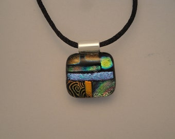 Dichroic Fused Glass Pendant - BHS02673