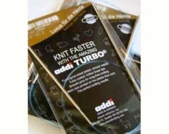 "Addi Turbo 4.5mm 80cm, US7 32"" Premium circular needle"